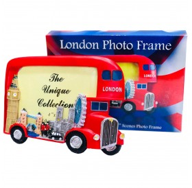London Picture Photo Frame London Red Bus Big Ben Hand Painted Souvenir Gift