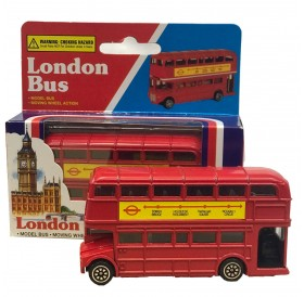London Red Bus Double Decker Bus Model Made of Die Cast Metal