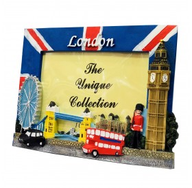 Photo Frame Union Jack London Scene British Souvenir Gift 6 x 4 Picture Holder