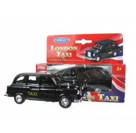 London Taxi Black Cab Die Cast Metal Toys Pull Back Go Action Souvenir Model