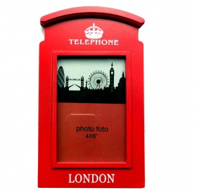"London Souvenir Red Telephone Box Photo Frame 4 x 6"" British Gift"