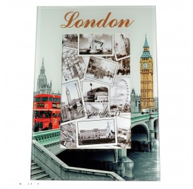Photo Frame London Big Ben Parliament Glass Union Jack Tel Bus Picture Frame 10 X 15 CM