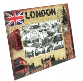Photo Frame Landscape London Souvenir 15x10 cm Big Ben Union Jack Picture Holder