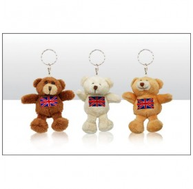 Bears With Union Jack Keyrings