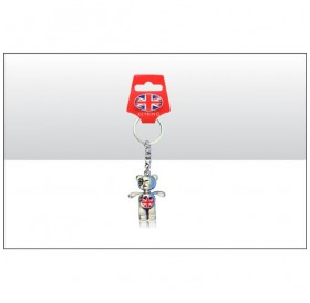 Bears Keyrings with Union Jack Flags