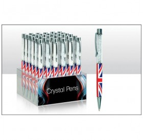 Crystal Union Jack Pen