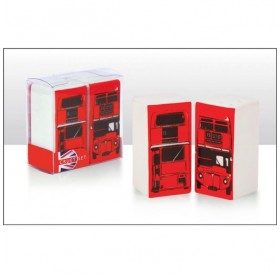 London Bus Rectanguler Cruet Set