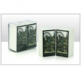 London Cityscape Ceramic Rectangular Cruet Set