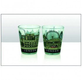 London Cityscape Souvenir Shot Glass Set of 2