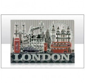 London Photographic Montage Foil Stamped Magnets