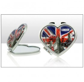 Capital London Heart Compact Mirrors