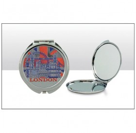 London Montage UJ Foil Stamped Compact Mirrors