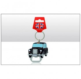 Black London Taxi Bottle Opener Keyrings