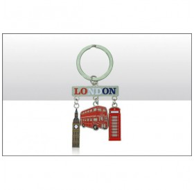 London Phone Box Bus Big Ben Charm Keyrings