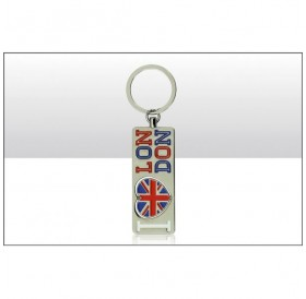 I Heart Union Jack London Spinning Keyrings