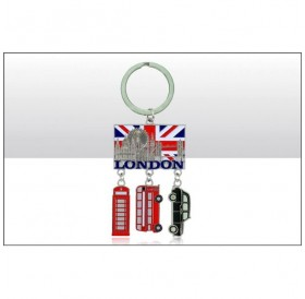 London Montage/Bus/Phone Box/Taxi Keyrings