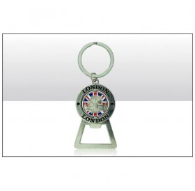 London Montage Spinning Bottle Opener Keyrings