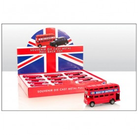 Small Pull Back Die Cast Bus Model
