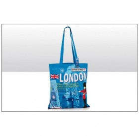 London Scrapbook Cotton Tote Bags