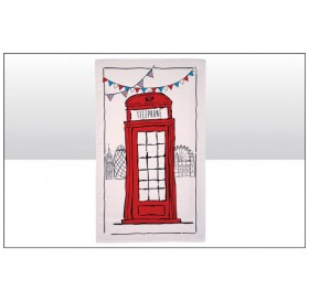 Sketchy Phone Box Tea Towels