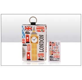 London Icons Cotton Canvas Wallets