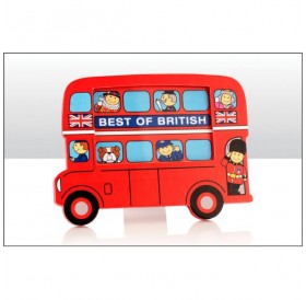 Photo Frames London Bus Wood 17.5cm