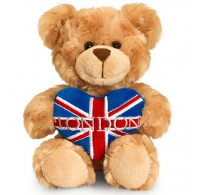 Teddy Bear Bear Union Jack Heart London 20 CM British Souvenir Soft Toys